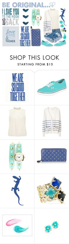 """""""Blue days"""" by jungkook ❤ liked on Polyvore featuring Vans, Dorothy Perkins, Band of Outsiders, Charlotte Russe, Anya Hindmarch, Kendra Scott, Benefit and Kenneth Jay Lane"""