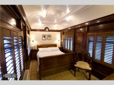 all of the hotel rooms at this one are inside an old train that they heavily renovated and converted