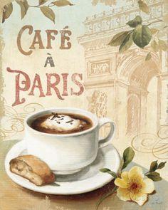 オールポスターズの リサ・オーディット「Cafe in Europe I」高品質プリント