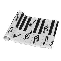 Piano Keyboard Gift Wrap
