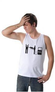 Camiseta Ilustrada: Camisetas Engraçadas - Assalto no Combustivel