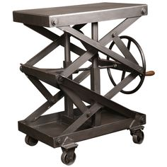 Industrial-style metal scissor kitchen trolley of origin, … – Kitchen Furniture Storage Reclaimed Furniture, Vintage Industrial Furniture, Industrial Style, Industrial Metal, Iron Furniture, Table Furniture, Furniture Storage, Kitchen Furniture, Outdoor Furniture