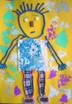 Kindergarten Looks like Mat Man! Kindergarten Art, Preschool Art, Art Activities For Kids, Art For Kids, Arts And Crafts Projects, Projects For Kids, 2nd Grade Art, Tech Art, Toddler Art
