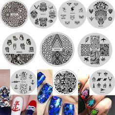 NICOLE DIARY Prime 10Pcs Nail Art Stamp Template Animal Image Stainless Steel Circular Stamping Plates NDP001-010 ** This is an Amazon Affiliate link. Click image to review more details.