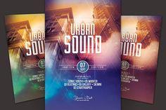 Urban Sound Flyer by styleWish on @creativemarket