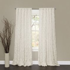 Lush Decor Lake Como Window Curtain Panel, 84 by 50-Inch, Ivory Lush Decor http://www.amazon.com/dp/B00E6WIDVG/ref=cm_sw_r_pi_dp_ZPC-vb1D9JNKE