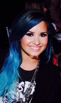 #Perfection #Blue #Hair #Smile #Demi #Lovato #Lovatic #Forever #21