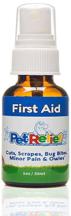 Dog First Aid Spray, Safe and Natural Wound Care For Dogs,! 30ml Dog First Aid Kit Supplies, Better Than Meds Or Antibiotic Ointment, No Side Effects! Made In USA By Pet Relief *** Tried it! Love it! Click the image.(This is an affiliate link and I receive a commission for the sales)
