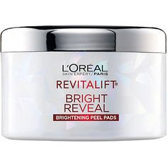 L'Oréal Revitalift Bright Reveal Peel Pads ($20): We all have those days when our skin is feeling less bouncy, less radiant and overall just less like you. These little pads are the perfect remedy for lackluster skin that feels dull and parched. Soaked in glycolic acid, these wipes are formulated to whisk away dull dead skin cells and reveal a bright new skin surface layer. Use them at night and be sure to follow up with an SPF the next morning.