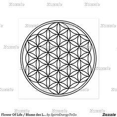 Flower Of Life / Blume des Lebens - solid black