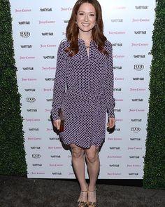 Ellie Kemper attends the Vanity Fair and Juicy Couture Celebration of The 2013 Vanities Calendar in Los Angeles.