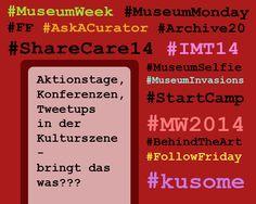 """Blogbeitrag """"Aktionstage, Konferenzen und Tweetups im Kulturbereich – bringt das was?"""" von Marlene Hoffmann"""