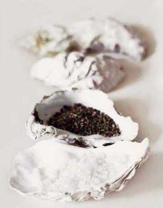 Beach Wedding / Salt & Pepper Dishes / White Wash Theme / LANE (instagram: the_lane)