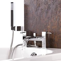 Update your bathroom with the Blake tub shower mixer faucet
