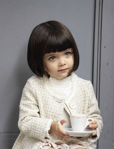 this was my favourite benetton catalogue so far - next saturday M is going to have her hair like this <3