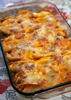 The BEST Baked Shells with Ricotta and Sausage