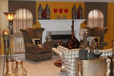 Living Room Collection. #vases #paintcolor #furniture #curtains #blinds