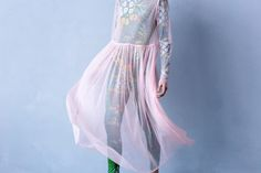 Платье прозрачное нежно-розовое / Transparent dress soft pink