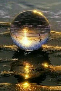 Bella fantasía de luz y agua