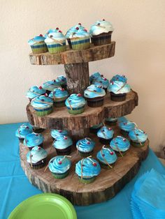 Cattail Cupcakes For Fishing Themed Baby Shower Jenny Crocker Cakery. Could  Do This Cake Stand In A Fall Shower