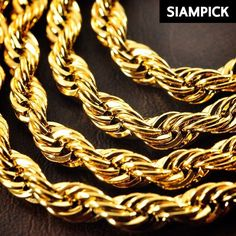 24 Thai Baht 22k 24k Yellow Gold Plated Cuban Curb Chain Necklace