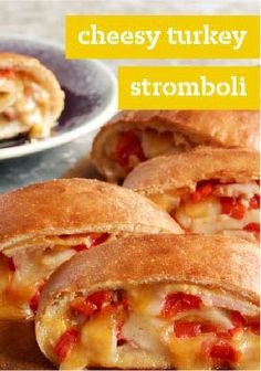 Cheesy Turkey Stromboli – It takes only 15 minutes to wrap the fixins in refrigerated pizza dough. The hard part is waiting for your Cheesy Turkey Stromboli to emerge from the oven!