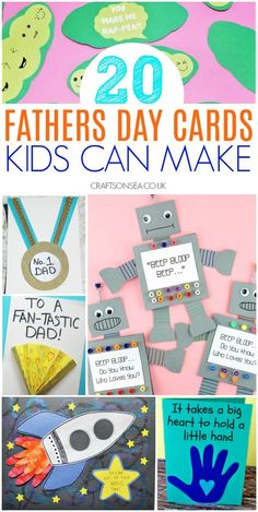 Kids Fathers Day Crafts, Fathers Day Cards, Gifts For Kids, Homemade Outdoor Games, Father's Day Activities, Free Printable Cards, Toddler Crafts, Toddler Fun, Kid Crafts