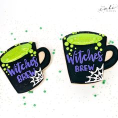 Decorated halloween witch inspired cookies. Call or email to order your celebration cookies today. Click the link below for more information. #cookies #halloween #halloweencookies #halloweendesserts #dessert #witch #decoratedcookies #royalicing #halloweenparty #party #partyideas #halloweenpartyideas