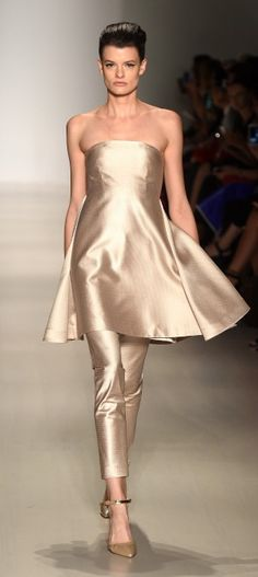 Fashion Shenzen. SS15. Mercedes Benz Fashion Week. New York Fashion Week. @wardroberose #runway #metallic #a-line