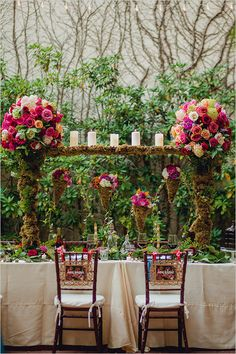 garden wedding ideas | reception table decor ideas