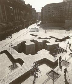 "andgatherer:  Eduardo Chillida: ""The Basque Liberties Plaza"", 1980"