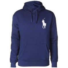 Ralph Lauren Polo Men's Big Pony Beach Fleece Freshwater Blue Hooded... ($220) ❤ liked on Polyvore