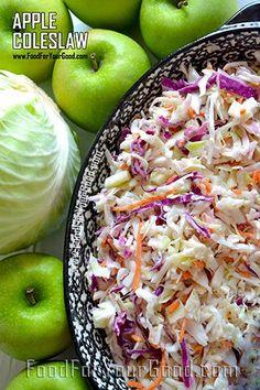│►│ Apple Coleslaw   FoodForYourGood.com #apple_coleslaw