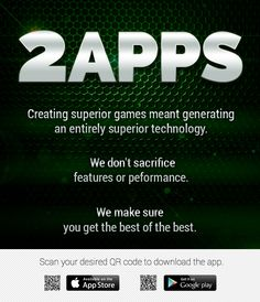 Superior technology all in one #app. Download 2apps now! #appdev #appmarketing #gaming #onlinecasino #gamedev