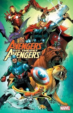 Avengers vs. Pet Avengers (TPB) (12.01.2017) // Basic Truth: It's hard to protect Earth when you've been turned into a frog. The Pet Avengers Return! Good thing, too – because dragons have decided it's time to take over the world and oppress the silly humans once and for all! And since Captain America, Iron Man and Thor are all green and hopping about, here's hoping they can get used to their new flippers in time to fight alongside Earth's Mightiest Pets! #avengers #pet #avengers #marvel