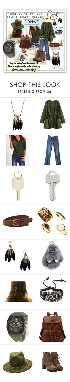 """""""Olive & Dark Camel leathers, with black accents in jewelry & Denim"""" by caroline-buster-brown ❤ liked on Polyvore featuring The Giving Keys, Lauren Klassen, FOSSIL and Wrist Armor"""