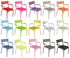 Well wouldn't a selection of these fine chairs look delish on the rooftop deck I don't have? Why yes, yes they would. NEED that green one. #furniture
