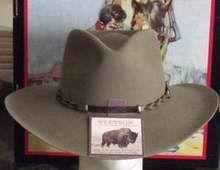 4ed927d0f6e STETSON 4X BUFFALO FELT DRIFTER COWBOY WESTERN HAT