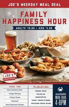 Joe's Crab Shack Family Happiness Hour – Great Food, Great Prices