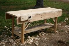The Workbench Diary: A Portable Nicholson Bench from Scrap Wood