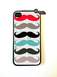 Iphone 4 Case Grunge Mustaches iPhone 4 Case