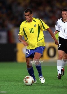 Football, FIFA 2002 World Cup Final, Yokohama, Japan, 30th June 2002, Brazil 2 v Germany 0, Brazil's Rivaldo,Credit: POPPERFOTO/JOHN McDERMOTT