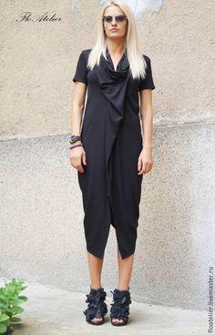 Купить Ассиметричное вечернее платье/ Aссиметричная туника/F1491 - платье для девочки, платье летнее, черное платье