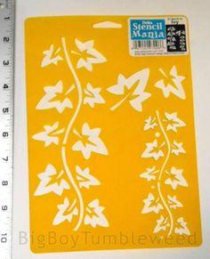 DELTA-Stencil-Mania-Trailing-Ivy-leaves-design-fall-craft-scrapbook-woodworking  #BigBoyTumbleweed
