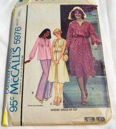 "1970s Boho Sundress dress Sleeveless sewing pattern McCalls 5976 Size 10-12 Bust 32.5-34"" by retroactivefuture on Etsy"