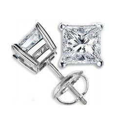 Los pendientes Modelo PRINCESA son unos pendientes de diamantes realizados en oro de Primera Ley o platino. Se trata de unos pendientes de diseño tipo dormilona, con dos diamantes talla princesa engastados en cuatro garras. Esta joya constituye un modelo tradicional e indispensable en la joyería internacional.
