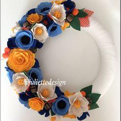 Summer Wreath, Spring Wreath, Mother's Day, Felt Flowers Wreath, Felt Wreath, Colorful Wreath by juliettesdesigntr on Etsy https://www.etsy.com/listing/588348000/summer-wreath-spring-wreath-mothers-day