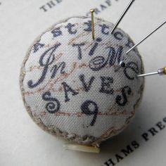 A Stitch in Time , Pincushion Brooch