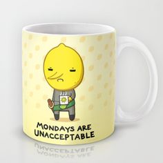 Yay Monday, Lemongrab Mug by fablefire - $15.00