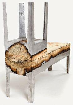 Diseño, tendencias, creatividad e innovación - loveDESIGNnews: WOOD CASTING muebles de madera y aluminio por Hilla Shamia